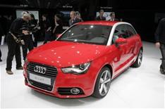 Audi A1 in red