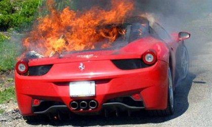 Ferrari 458 Italia on Fire