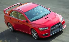 Mitsubishi Lancer Evolution X in red