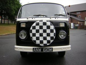 1974 Volkswagen Type 2 Campervan Black and cream