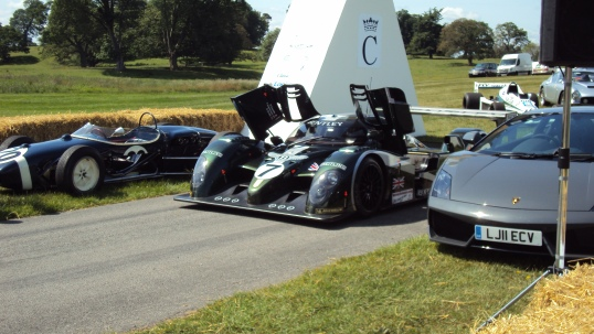 Bentley, Lotus and Lamborghini on Cholmondeley Start Line