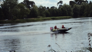 Thundercats powerboats on the lake at Cholmondeley Castle