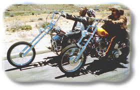 Peter Fonda and Dennis Hopper in easy rider
