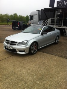 Mercedes C63 AMG at the SMMT Test Day 2012