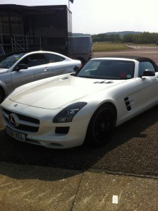 Mercedes SLS Roadster at the SMMT Test Day 2012