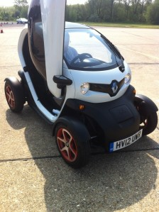 Renault Twizy with optional doors at SMMT Test Day 2012