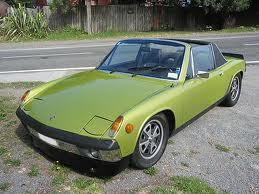 1970's Porsche 914 in green