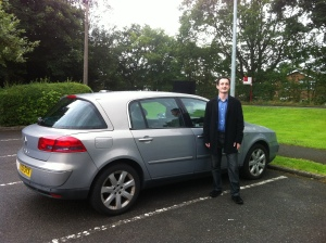 Oliver Hammond and his Renault Vel Satis when he met Driving Torque