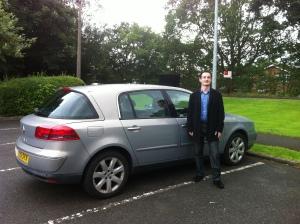 Oliver Hammond and his Renault Vel Satis when he met Driving Torque