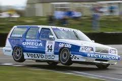 1990s volvo 850 t5 touring car on two wheels