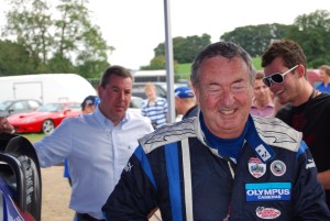 Nick Mason after drive with Petter Solberg Carfest