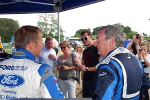 Nick Mason chats with Petter Solberg Carfest