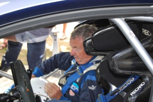 Nick Mason passenger in WRC Carfest