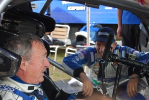 Nick Mason Petter Solberg in WRC Carfest