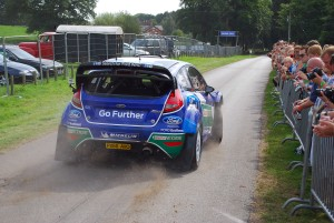 Petter Solberg and Nick Mason head off in WRC Carfest