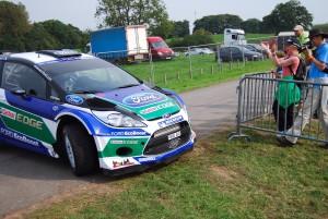 Petter Solberg slides WRC 2 Carfest