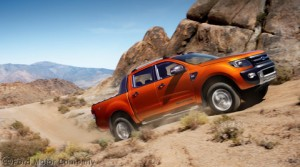 Ford Ranger Wildtrak uphill