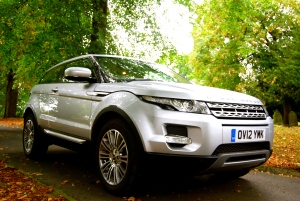 Range Rover Evoque Coupe front and side