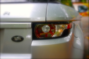 Range Rover Evoque rear light cluster