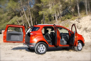 Ford EcoSport doors open