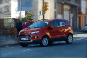 The EcoSport looks at its best on the move