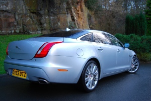 Jaguar XJ L rear and side