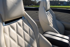 Bentley Continental Diamond stitch seats