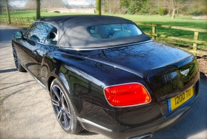 Bentley Contintental GTC roof up