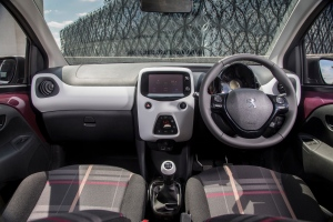 "108 interior with very handy 7"" touchscreen"