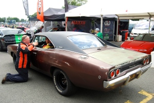 5th gear's Jonny Smith in his 'retired moonshine runner' Dodge Charger