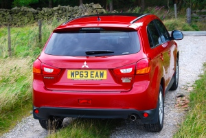 mitsubishi asx 4 rear and side