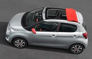 Citroen C1 Airscape roof open
