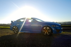 Jaguar_XFR-S_side_blue
